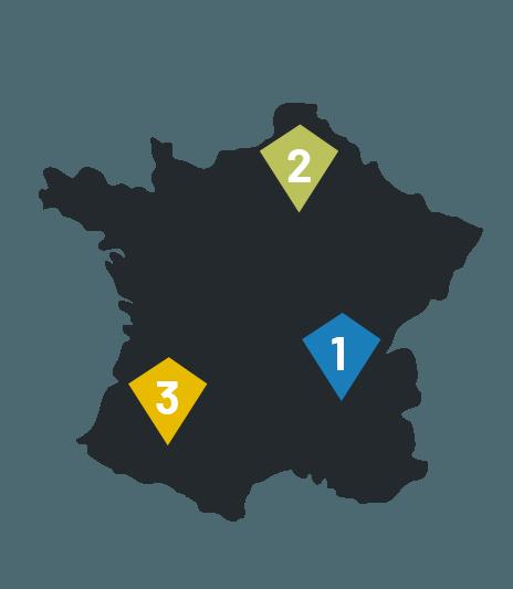 delegaciones en francia